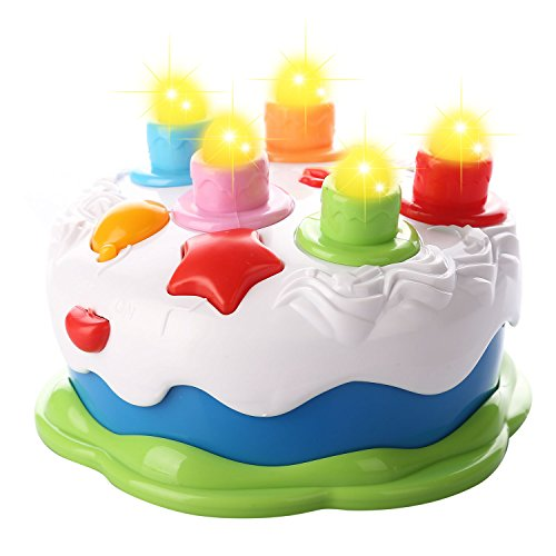Kids Birthday Cake Toy For Baby With Counting Candles Music Pretend Play Toddler 1 5 Years Old