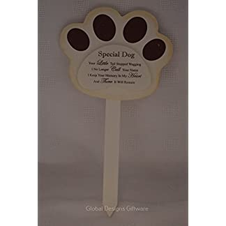 Special Dog Grave Marker Stick Stake Memorial Tribute Your Little Tail Stopped Wagging F1625 9