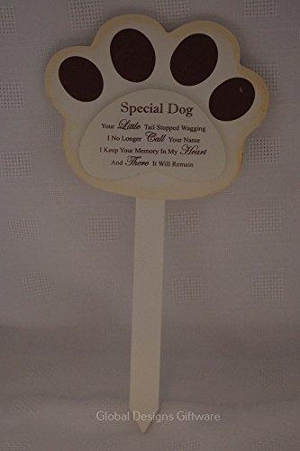 Tumba de madera marcador de perro especial memorial de perro con texto en inglés