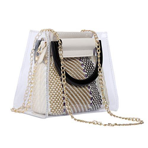 CRE87 Damen Art- Und Weisetransparentes Acrylarmband PVC-Schulter-Beutel-Handtaschen-Diagonale
