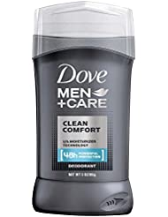 Dove Men + Care 1/4 Moisturizer Deodorant Clean Comfort, 3 oz., 2 Count by Dove
