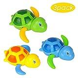 Nomisty Badespielzeug,Baby Schwimmen Badewanne Pool Spielzeug Nette Wind up Schildkröte Tier Badespielzeug Set Für Kinder (3 Teiliges Set, 3 Farbe)