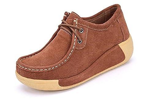 Femmes de faible profondeur bouche épaisse inférieure croix chaussures talon décontracté talons couple chaussures amies , dark brown ,