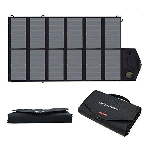 ALLPOWERS 80W Cargador Solar Plegable Panel Solar (USB Dual 5V con la Tecnología iSolar + Salida de la CC 18V) para Ordenador Portátil, Tableta, iPad, iPod, Smartphone, el iPhone, el Samsung