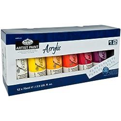 Royal & Langnickel ACR75-12 - Paquete de 12 tubos de pintura acrílica