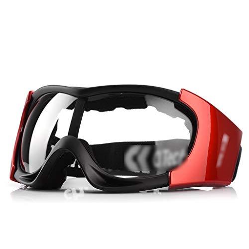 ZHMJ Schutzbrille Staubdicht Sandschutz Windschutzscheibe Windschutzscheibe Reiten Verschleißschutz Industrielle Schutzbrille Männlich (Farbe : Black Red)