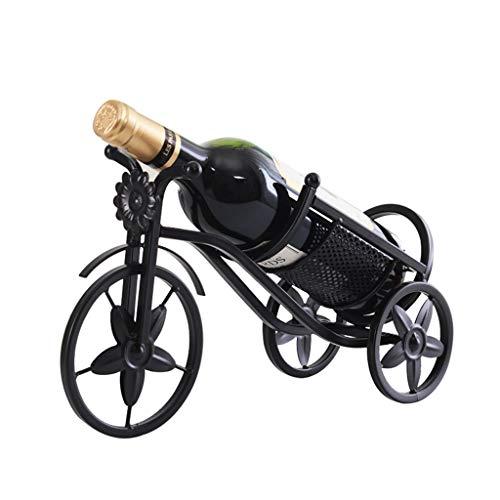 GONGFF Geschirr Dreirad Wein Set Weinregal Weinhalter 1 Flasche Schwarzwein oder Champagner Stehen -