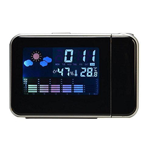 KHSKX Stumme faul kleine Uhr, Wettervorhersage Student am Krankenbett Uhr, Projektion Uhr Digitaluhr
