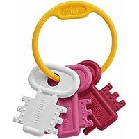 Chicco - Llaves sonajero mordedor clásico fáciles de agarrar, color rosa