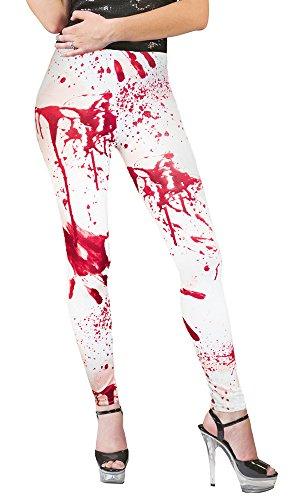 Blutige Leggings zu Halloween - Tolles Accessoire zu Zombie (Kunst Kostüme)