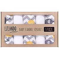 Cuadrado de franela para bebé Lulando, 5 unidades de 70 x 80cm, 100% algodón