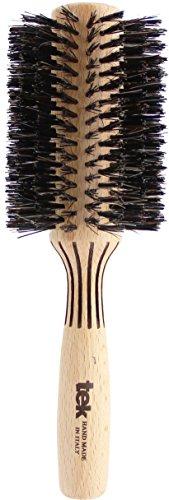 Tek spazzola per capelli rullo con setole di cinghiale diametro 70 mm - handmade in italy