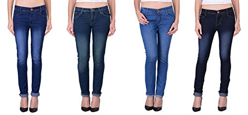 London Looks Lady Slim Fit Multi Color Jeans (Combo Of 4) (32)