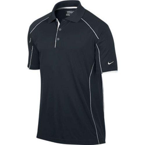 Nike Herren Golf Tech Core Color Block Poloshirt, Herren, Black/White//White, Small - Nike Tech Core
