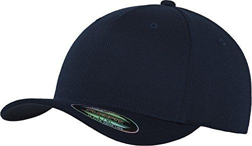 Flexfit 5 Panel Baseball Cap - Unisex Mütze, Kappe für Herren und Damen, einfarbige Basecap, rundum geschlossen - Farbe navy, Größe S/M