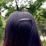 Hair Comb Pack of 4 Pcs Black Clip with 12 Pcs Black Hairband Hair Accessories for Womens/Girls