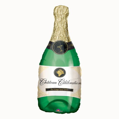 PARTY DISCOUNT Folienballon Champagner Flasche, ca. 91x35cm