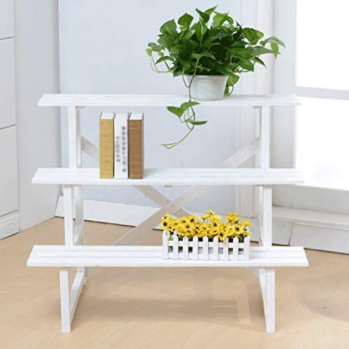 QYJpB Bambusleiter Regal Multifunktionale Pflanze Blumenständer Lagerregal Bücherregal Bücherregal Natürliche (Size : 75cm) -