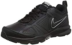 Nike T-Lite XI Herren Hallenschuhe, Schwarz (Black/Black-Metallic Silver 007), 42 EU