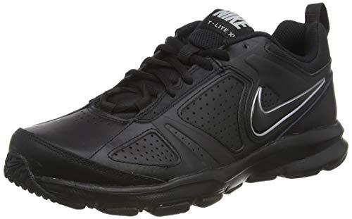 Nike T-Lite XI Herren Hallenschuhe, Schwarz (Black/Black-Metallic Silver 007), 43 EU