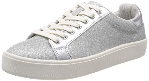 Tamaris Damen 1-1-23774-22 919 Sneaker, Silber (Silver Glam 919), 38 EU