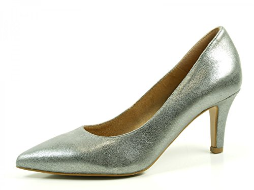 Tamaris 1-22414-28-297 Schuhe Pumps Metallic Stiletto , Schuhgröße:40;Farbe:Grau