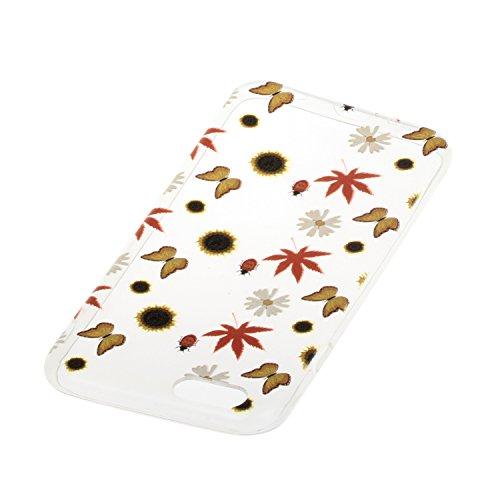 Meet de Etui / Cover / Case / Coque / Protection Coque Étui Case Cover Coque TPU Housse pour Apple iphone 6 /iphone 6S - peint Fleurs