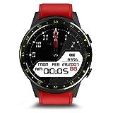 LCLrute flashlight LCLrute Aktualisieren Aktivität Herzfrequenz Tracker Blutdruckuhr IP67,Smartwatch Wasserdichte Tragbare Gerät, Herz Rate Monitor Display Smart Uhr Für Android IOS (Rot)