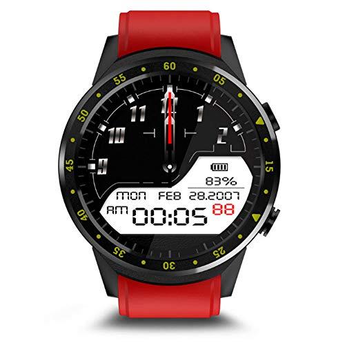 Omiky® Wasserdicht Smartwatch,Sport Fitness Aktivität Herzfrequenz Tracker Blutdruck Smartarmband Smart Uhr IP67,Perfekt Geeignet für Kinder,Frauen, Männer (Rot)