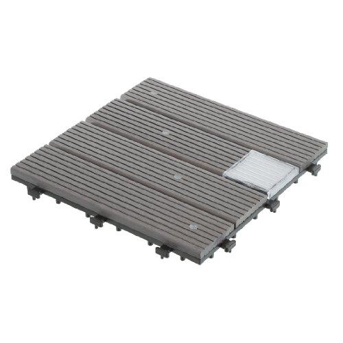 Ultranatura 20010001003E - Set de baldosas para terraza, Compuesto de plástico y Madera