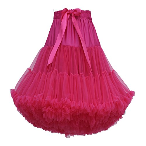 FOLOBE erwachsene luxuriöse weiche Chiffon Petticoat Tüll Tutu Rock Damen Tutu Kostüm Ballett Tanz Multi-Layer Puffy (Up Dress Kostüme Tutu)