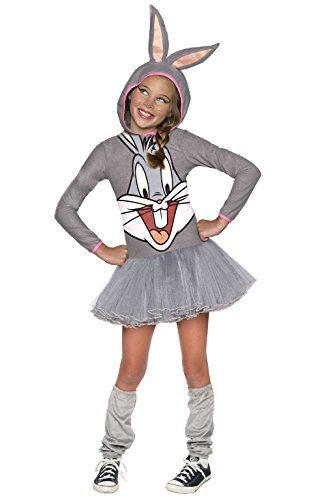 Rubie 's Offizielles Girl 's Looney Tunes Warner Bros Bugs Bunny Hoody, Kinder (Bug Kind Kostüm)