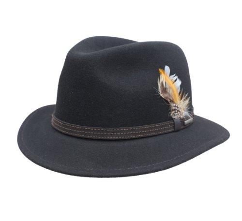 Stetson - Chapeau Fedora Pliable imperméable Feutre Homme Vidor - Taille L