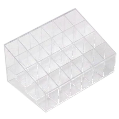 Eforcase 24 Frame 4x6 Clear Lipstick Cosmetic Stand 24 Lipstick Cosmetics Display Shelf Nail Polish Organizer Makeup Cosmetic Display Holder Cases Bags Storage by Eforcase -