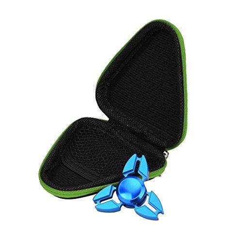 Preisvergleich Produktbild Atdoshop Spielzeug Geschenk, Fidget Hand Spinner Dreieck Finger Spielzeug EDC Focus ADHD Autismus Tasche Box Case Packet (9x3.5cm, Grün)