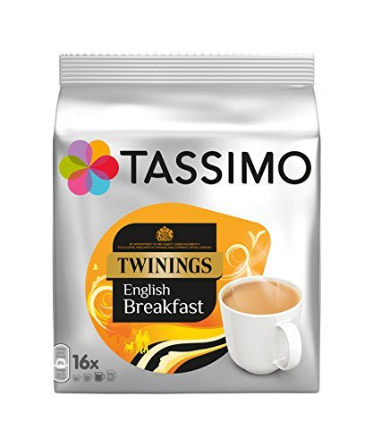 Product Image of Tassimo Twinings English Breakfast Tea 16 servings (Pack of 5, 80 servings/pods/discs in total)