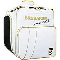 Brubaker \'Grenoble\' - Bolsa de Deporte - Mochila para Botas de esquí + Casco + Accesorios - Color Blanco/Dorado