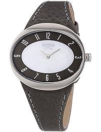 Boccia Damen-Armbanduhr Analog Quarz Leder 3165-15