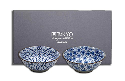 Tokyo Design Studio, Bol en porcelaine, Diamètre 21.0cm - Coffret de 2, Kristal