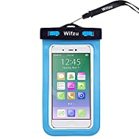 Wifzu Waterproof Case Dry Bag Universal Cell Phone Pouch for 6-Inch Phablets Water Resistant Blue