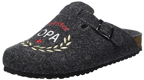 Supersoft Herren 511 077 Pantoffeln, Grau (Dk. Grey), 40 EU
