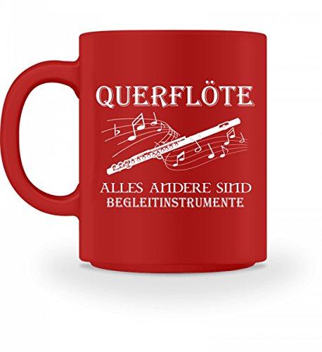 Hochwertige Tasse - Querflöte Shirt · Musiker · Blasmusik · Musik · Musikinstrument · Musikverein · Hobby · lustig · Spruch · Pulli · Jacke · Hoodie · T-Shirt · Geschenk (Hoodie Mit Musikinstrumenten)