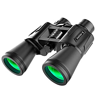 Binoculars for adults bird watching,the e-shine 10x50 High-Powered Surveillance Binocular is wonderful for long distances in travelling,outdoor,sports,etc,quality optics with stunning HD clarity