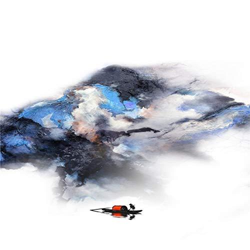 Geiqianjiumai Abstrakte Malerei Größe minimalistischen Berg Aquarell Nordic Landschaft Kunst Wand Poster und Leinwand rahmenlose Malerei Kern 1 60X80cm drucken -