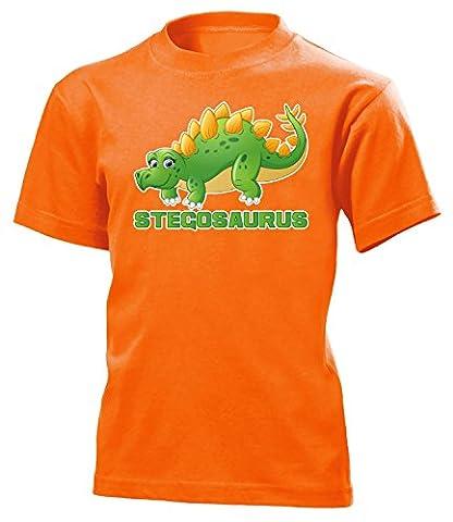 DINOSAURIER - STEGOSAURUS 5189(K-ORA) Gr. 122/128 (Orange Triceratops Kostüm)