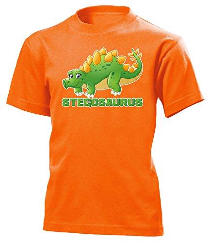 der T-Shirt (K-Ora) Gr.140 (Orange Triceratops Kostüm)
