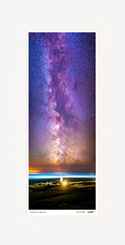 chad-powell-photography-lighthouse-milky-way-mounted-print-20x10-inch