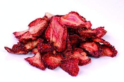 Bio Erdbeeren getrocknet 250g Erdbeerscheiben und Stücke, sonnen-getrocknet (nicht gefriergetrocknet) ungesüßt, 100% Frucht, Rohkost