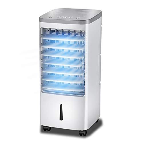 XUERUI Ventilatoren Tragbar Verdunstungsluftkühler 60W 4L Wassertank 3 Geschwindigkeiten Büro Handbuch Mechanische Taste (Color : White)
