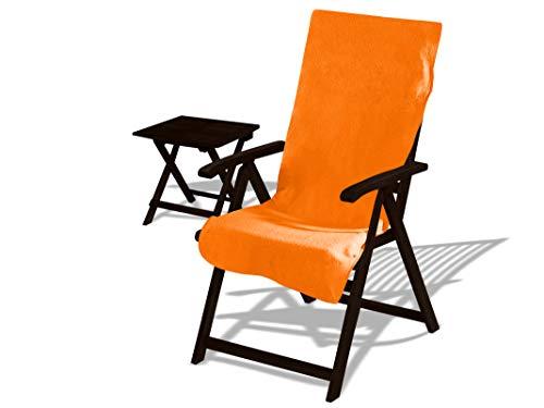 Dyckhoff Schonbezug für Gartenliege oder Gartenstuhl - mit Kapuze für besten Halt 270.289, Gartenstuhl (60 x 130 cm), orange - Trockner Kapuze
